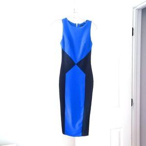 Asos Royal blue Black color block dress Size 2